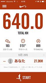 今年の2月15日から640kmも走りました。